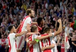 """ČL: """"Ajax"""" sutriuškino AEK, """"Šachtar"""" išplėšė lygiąsias prieš vokiečius"""