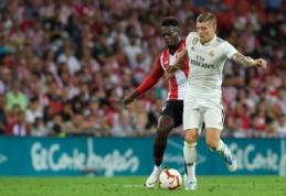"""T. Kroosas po lygiųjų Bilbao: """"Per daug neliūdime, čia žaisti sunku bet kuriai komandai"""""""
