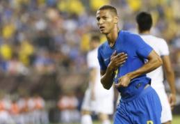 Brazilai sutriuškino Salvadorą, Argentinos ir Kolumbijos rungtynėse - lygybė
