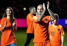 W. Sneijderio atsisveikinimo rungtynėse - Nyderlandų rinktinės pergalė