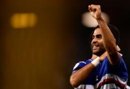 """""""Lazio"""" palaužė lygos naujokus, """"Sampdoria"""" sutriuškino """"Napoli"""" ir pasižymėjo nuostabiu įvarčiu"""