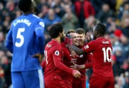"""Be pralaimėjimų toliau žygiuojantis """"Liverpool"""" įsūdė keturis įvarčius į """"Cardiff"""" vartus"""