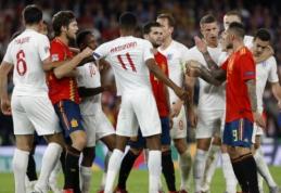 Tautų lyga: penkių įvarčių fiesta Ispanijoje baigėsi anglų pergale