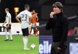 Vokiečių futbolo krizė: kol žaidėjai yra apmėtomi alumi, J. Lowas neskuba trauktis iš savo pareigų