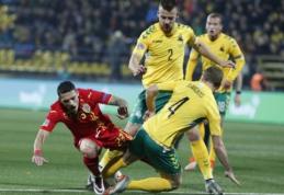 Pirmą įvartį sukrapščiusi Lietuvos rinktinė per pridėtą laiką nusileido rumunams