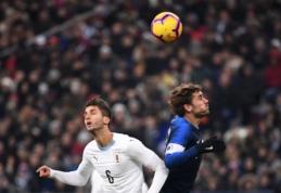 Draugiškose rungtynėse - minimalios italų, prancūzų ir brazilų pergalės