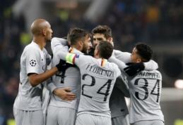 """ČL: """"Roma"""" po atkaklios kovos įveikė CSKA, """"Valencia"""" džiaugėsi pirma pergale"""