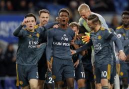 """""""Leicester"""" pergalingai paminėjo žuvusio savininko atminimą, """"Spurs"""" vos neprisižaidė išvykoje"""