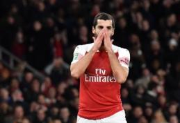 """Netektis """"Arsenal"""" stovykloje: H. Mkhitaryanui lūžo pėda"""