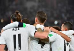 """Madrido """"Real"""" be vargo triumfavo FIFA pasaulio klubų taurės finale"""