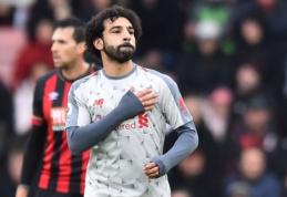 """M. Salah vedamas """"Liverpool"""" sutriuškino """"Bournemouth"""""""