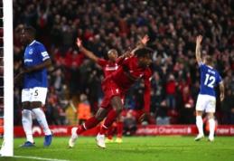 """J. Pickfordo klaida atnešė """"Liverpool"""" ekipai kuriozišką pergalę, """"Chelsea"""" susitvarkė su """"Fulham"""""""