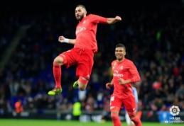 """Spindėjęs K. Benzema atvedė """"Real"""" į pergalę Barselonoje"""