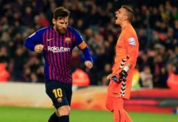 """""""Barcelona"""" po atkaklios kovos palaužė """"Real Valladolid"""" vienuolikę"""