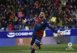 """Paskutinėje vietoje esanti """"Huesca"""" sušaudė """"Valladolid"""" vartus"""