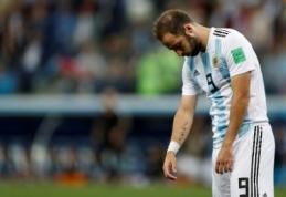 G. Higuainas paskelbė apie karjeros pabaigą Argentinos rinktinėje