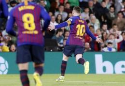 """Barcelona"" vizitas Sevilijoje pažymėtas įspūdingu L. Messi ""hat-tricku"""
