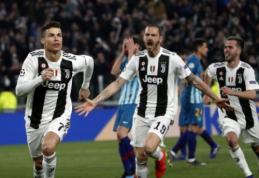 """C. Ronaldo įkvėptas """"Juventus"""" eliminavo """"Atletico"""", """"Man City"""" sudaužė """"Schalke"""""""