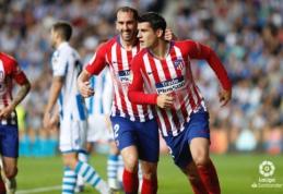 """A. Moratos dublis atvedė """"Atletico"""" į dar vieną pergalę """"La Liga"""" pirmenybėse"""