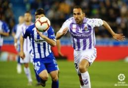 """""""Real Valladolid"""" atsitiesė Vitorijoje ir pasiekė lygiąsias prieš """"Alaves"""""""