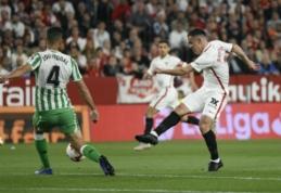 """Emocijų kupiname Sevilijos derbyje – """"Sevilla"""" pergalė, """"Barca"""" neįveikė """"Huescos"""""""