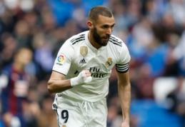 """K. Benzema pabudintas """"Real"""" palaužė """"Eibar"""", """"Rayo"""" užbaigė """"Valencia"""" žygį"""