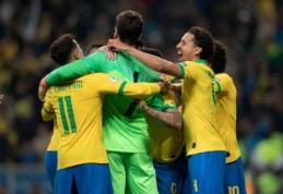 Brazilai po dramatiškos 11 m. baudinių serijos žengė į pusfinalį