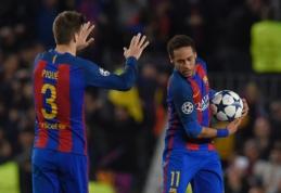 """G. Pique laukia į """"Barceloną"""" sugrįžti norinčio Neymaro"""