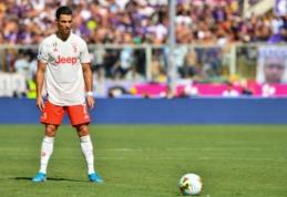 C. Ronaldo – antras prasčiausiai baudos smūgius realizuojantis žaidėjas Italijoje