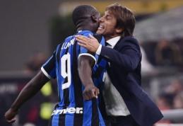 """R. Lukaku po pergalės Milano derbyje: """"Mano santykiai su Conte yra labai geri"""""""