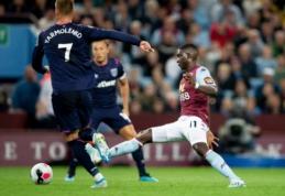 """""""Aston Villa"""" ir """"West Ham"""" dvikovoje – nulinės lygiosios"""