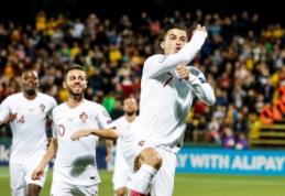 """Portugalijos žiniasklaidos centre – C. Ronaldo """"pokeris"""" ir E. Šetkaus klaida"""