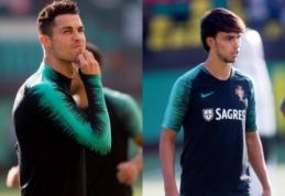 LFF stadione – C. Ronaldo pamokos J. Felixui