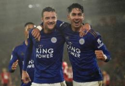 """""""Leicester"""" puolimo mašina sutraiškė """"Southampton"""" futbolininkus"""