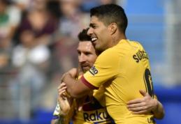 """""""Barcelona"""" puolimo trio nuliūdino """"Eibar"""" ekipą, """"Atletico"""" trečią kartą iš eilės sužaidė lygiosiomis"""