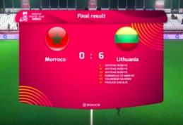 Mažojo futbolo rinktinė sutriuškino Maroko komandą