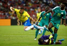 Brazilai draugiškose rungtynėse neįveikė Senegalo