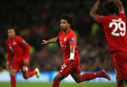 """Neįtikėtinas rezultatas Londone: S. Gnabry pasižymėjo """"pokeriu"""", o """"Bayern"""" sumalė į miltus """"Tottenham"""""""