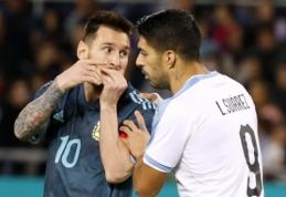 L. Messi išplėšė lygiąsias rungtynėse su Urugvajumi