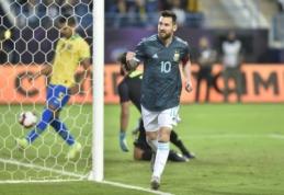 L. Messi atvedė argentiniečius į pergalę dvikovoje su brazilais