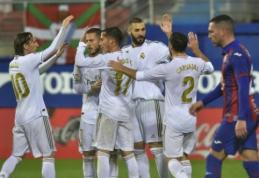 """Madrido """"Real"""" surengė dar vieną įvarčių fiestą Eibare"""