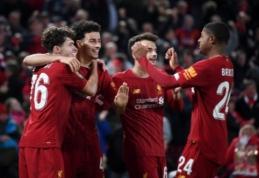 """""""Liverpool"""" į kovą Anglijos lygos taurės ketvirtfinalyje stos rezervine sudėtimi"""