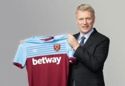 """Oficialu: D. Moyesas grįžta į """"West Ham"""""""