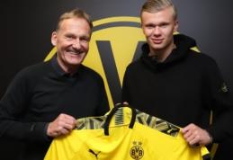 """Oficialu: Norvegijos futbolo deimantas E. B. Haalandas keliasi į """"Borussia"""""""