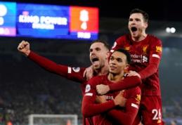 """Dar labiau lyderio poziciją sutvirtinęs """"Liverpool"""" nepasigailėjo """"Leicester"""" vienuolikės"""