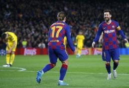 """A. Griezmannas: """"Vargu, ar dar kada nors išvysime tokį žaidėją, kaip Leo Messi"""""""