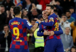 """Barcelona"" sutriuškino ""Alaves"", ""Sevilla"" susitvarkė su ""Mallorca"""