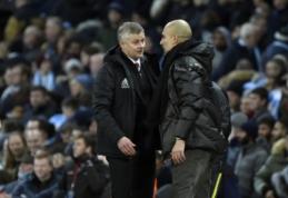 """O. G. Solskjaeras: """"Man City"""" yra geriausia komanda Anglijoje"""""""