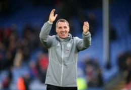 """Į """"Arsenal"""" akiratį patekęs B. Rodgersas pasirašė naują sutartį su """"Leicester"""""""