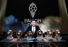 """L. Messi šeštą kartą savo karjeroje laimėjo """"Auksinio kamuolio"""" apdovanojimą"""
